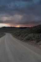 Unpaved road in Stanley Basin, Idaho