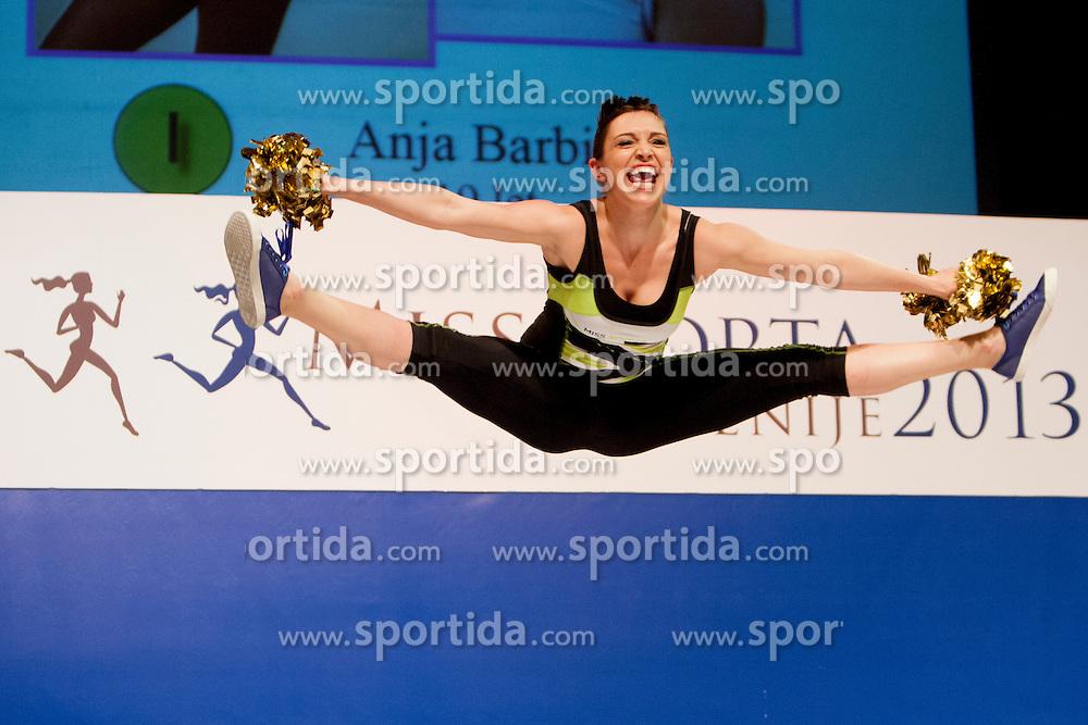 Anja Barbic during event Miss Sports of Slovenia 2013, on April 20, 2013, in Festivalna dvorana, Ljubljana, Slovenia. (Photo by Urban Urbanc / Sportida.com)