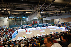 View on the hall at exhibition game between Slovenia and Poland for Primus Trophy 2011Lithuania as part of exhibition games before European Championship L2011on July 23, 2011, in Ljudski Vrt, Ptuj, Slovenia. (Photo by Matic Klansek Velej / Sportida)