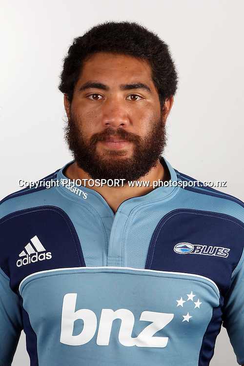 Charlie Faumuina. Blues Headshots, Investec Super Rugby, Auckland, 7 February 2011. Photo: William Booth/photosport.co.nz