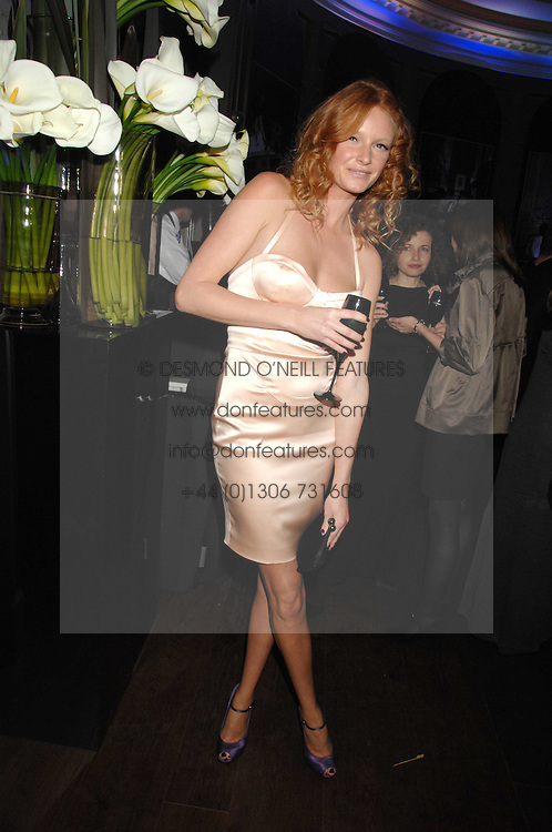 OLIVIA INGE at a party to launch the Dom Perignon OEotheque 1995 held at The Landau, Portland Place, London W1 on 26th February 2008.<br />