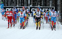 31.12.2011, DKB-Ski-ARENA, Oberhof, GER, Viessmann Tour de Ski 2011, FIS Langlauf Weltcup, Verfolgung Herren, im Bild  Petter Northug (NOR), Ilia Chernousov (RUS) , Axel Teichmann (GER), Jens Filbrich (GER) und Alexander Legkov (RUS) führen das Feld an // during men's pursuitof Viessmann Tour de Ski 2011 FIS World Cup Cross Country at DKB-SKI-Arena Oberhof, Germany on 2011/12/31. EXPA Pictures © 2011, PhotoCredit: EXPA/ nph/ Hessland..***** ATTENTION - OUT OF GER, CRO *****