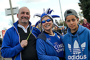 Leicester City fans during the Barclays Premier League match between Leicester City and West Ham United at the King Power Stadium, Leicester, England on 17 April 2016. Photo by Simon Davies.
