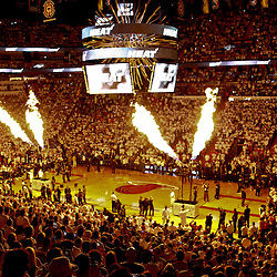Jun 19, 2012; Miami, FL, USA; A general view before game four in the 2012 NBA Finals between the Oklahoma City Thunder and the Miami Heat at the American Airlines Arena. Mandatory Credit: Derick E. Hingle-US PRESSWIRE