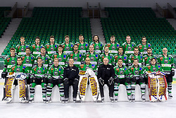 Team photo at official photo shooting of team HDD Olimpija Ljubljana for Season 2014 / 15 on September 10, 2014 in Hala Tivoli, Ljubljana, Slovenia. Photo by Matic Klansek Velej / Sportida