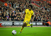 Aston Villas Carlos Sanchez during the Capital One Cup match between Southampton and Aston Villa at the St Mary's Stadium, Southampton, England on 28 October 2015. Photo by Adam Rivers.