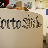 VENICE, ITALY - JULY 04: A sign and a poster are seen in the newly opened House of Corto Maltese on July 4, 2011 in Venice, Italy. Corto Maltese is a comic series created by Italian illustrator Hugo Pratt in 1967 featuringthe character of a sailor adventurer called Corto Maltese, the series has been translated into several languages. (Photo by Marco Secchi/Getty Images)