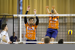 Jan Brulec of ACH Volley during Volleyball match between AHC Volley and Calcit Volley in Round #3 in blue group of Slovenian first league, on March 17, 2018 in Tivoli Sports Hall, Ljubljana, Slovenia. Photo by Urban Urbanc / Sportida