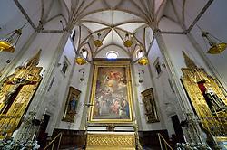 THEMENBILD - Madrid ist seit Jahrhunderten der geographische, politische und kulturelle Mittelpunkt Spaniens (siehe Kastilien) und der Sitz der spanischen Regierung. Hier residieren auch der König, ein katholischer Erzbischof sowie wichtige Verwaltungs- und Militärbehörden. Als Handels- und Finanzzentrum hat die Stadt nationale und internationale Bedeutung. Hier im Bild Chorraum und Altar, Iglesia de San Jeronimo el Real de Madrid, erster Sitz des kastilischen Parlaments 1510 // THEMATIC PACKAGES - Madrid is the capital and largest city of Spain. The population of the city is roughly 3.3 million and the entire population of the Madrid metropolitan area is calculated to be around 6.5 million. It is the third-largest city in the European Union, after London and Berlin, and its metropolitan area is the third-largest in the European Union after London and Paris. The city spans a total of 604.3 km2. EXPA Pictures © 2014, PhotoCredit: EXPA/ Eibner-Pressefoto/ Weber<br /> <br /> *****ATTENTION - OUT of GER*****