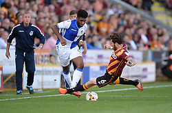Romain Vincelot of Bradford City tackles Ellis Harrison of Bristol Rovers - Mandatory by-line: Alex James/JMP - 17/09/2016 - FOOTBALL - Coral Windows Stadium - Bradford, England - Bradford City v Bristol Rovers - Sky Bet League One