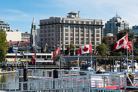 Currency Exchange Building presides over the Inner Harbour  of Victoria, BC