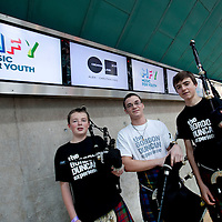 Picture Shows :  Members of The Gordon Duncan Experience, this ensemble has 26 members who are from all areas of Perth and Kinross. They are an eclectic musical ensemble that mixes traditional Scottish music with jazz and seeks to make traditional music more accessible to young people....Music for Youth, a music education charity that works annually with 100,000 young people across England and Wales began its work in Scotland on Friday 28th October  2011 with a free concert at Perth Concert Hall. ..A total of 1,000 school children aged 16 and under from Perth and Kinross, Fife, West and Dunbarton and Inverness attended. The concert, supported by Creative Scotland is the launch event in Scotland..Picture by Drew Farrell Tel : 07721-735041...The show featured performances from .The Gordon Duncan Experience.Feelfree  Conspiracy .The National Youth Choir of Scotland Stirling Area Choir.Drake Music Scotland and Kilpatrick School from West Dunbartonshire and.The National Youth Brass Band of Scotland.