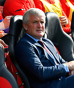 Southampton manager Mark Hughes  before the Premier League match between Southampton and Chelsea at the St Mary's Stadium, Southampton, England on 7 October 2018.