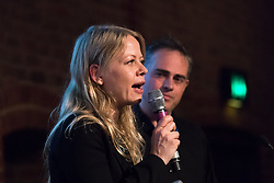 © Licensed to London News Pictures. 15/05/2017. LONDON, UK. SIAN BERRY from the Green Party speaking at the Progressive Alliance launch in London. The Progressive Alliance is a cross political party group who are campaigning against the Tories and encouraging tactical voting in the general election.  Photo credit: Vickie Flores/LNP