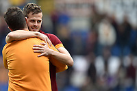 Esultanza Miralem Pjanic a fine partita. Celebration at the end of the match <br /> Roma 04-04-2015 Stadio Olimpico, Football Calcio Serie A AS Roma - Napoli Foto Andrea Staccioli / Insidefoto