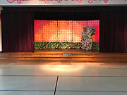 The completed Lion King set just waiting for the students to perform.