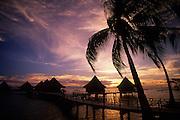Sunset, Kia Ora Resort, Rangiroa, French Polynesia