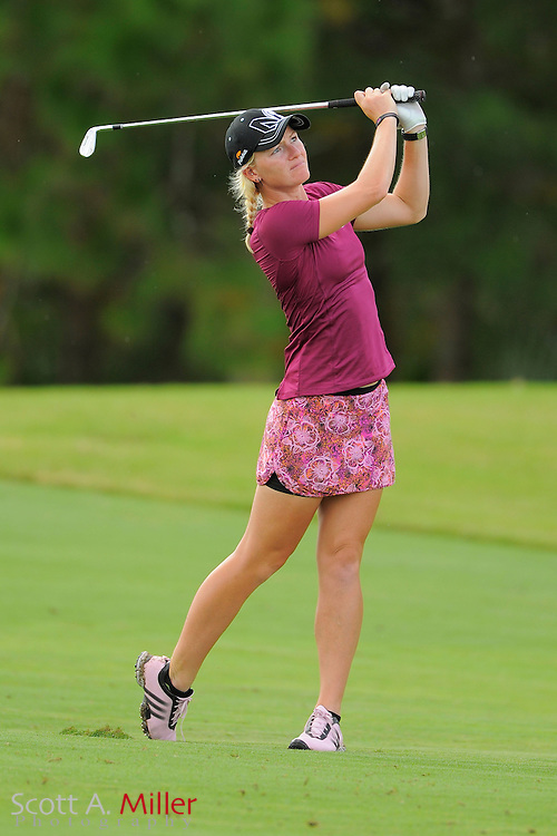 Nicole Smith in action during the final round of the Daytona Beach Invitational  at LPGA International on Sep 29, 2012 in Daytona Beach, Florida...©2012 Scott A. Miller