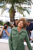Macy Gray blows a kiss to the photographers  at The Paperboy photocall at the 65th Cannes Film Festival France. Thursday 24th May 2012 in Cannes Film Festival, France.