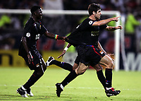 Fotball, 13. september 2005, Campions League, Lyon - Real Madrid 3-0,<br />  JOY JUNINHO / MAHAMADOU DIARRA (LYON)<br /> <br /> PHOTO JEAN MARIE HERVIO / DIGITALSPORT<br /> NORWAY ONLY