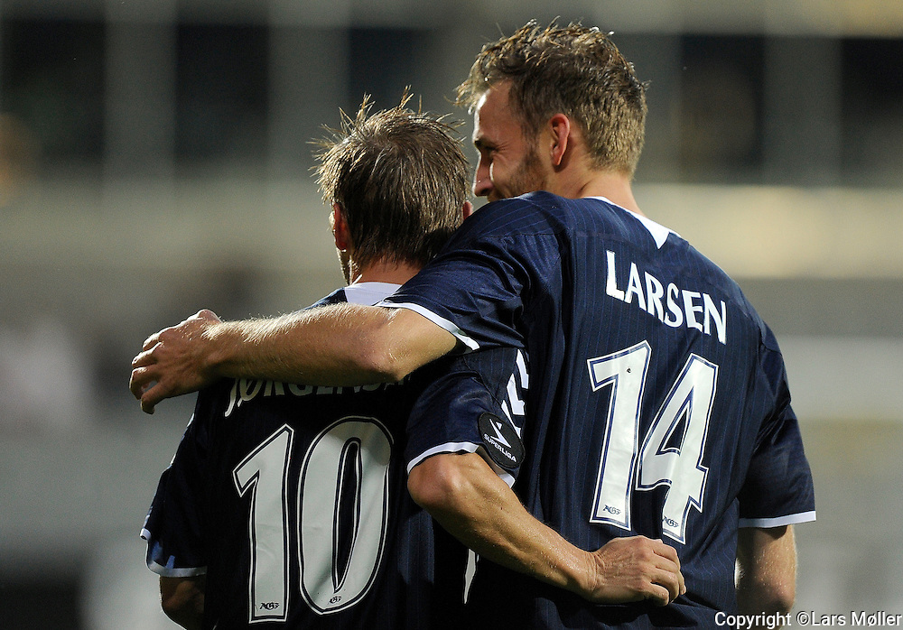 DK Caption:<br /> 20110829, Horsens, Danmark:<br /> Superliga fodbold, AC Horsens - AGF:<br /> Martin J&oslash;rgensen, AGF. , S&oslash;ren Larsen, AGF.<br /> Foto: Lars M&oslash;ller<br /> <br /> UK Caption:<br /> 20110829, Horsens, Denmark:<br /> Superleague football  AC Horsens - AGF<br /> Martin J&oslash;rgensen, AGF. , S&oslash;ren Larsen, AGF.<br /> Photo: Lars Moeller