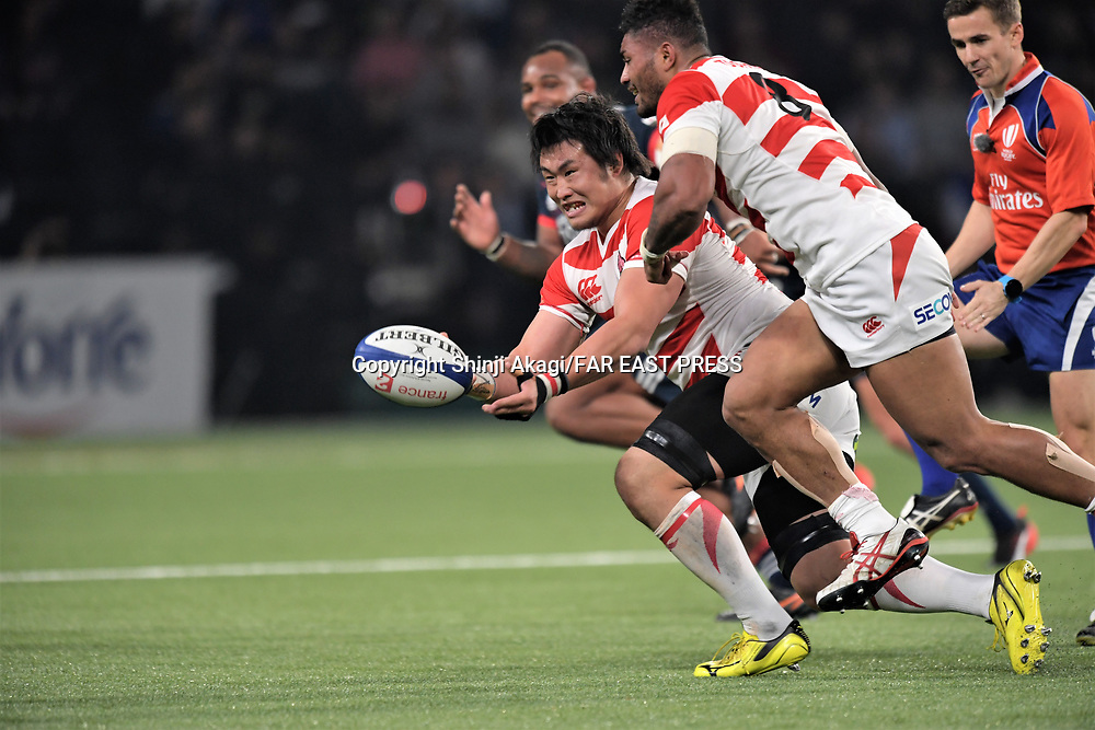 Shinya Makabe (JPN), NOVEMBER 25, 2017 - Rugby : Rugby test match between France and Japan at the U Arena in Nanterre, France. (Photo by FAR EAST PRESS/AFLO)