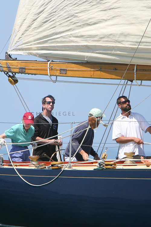 RO6C9143. Nantucket, MA, USA. ©2009 Chip Riegel / www.chipriegel.com. 08/14/2009. Day seven of the 2009 Nantucket Race Week is Day 2 of the 12 Meter Regatta. The nine-day Race Week features sailboats of all sizes, competitors of all ages, and is a benefit for the local, non-profit Nantucket Community Sailing.