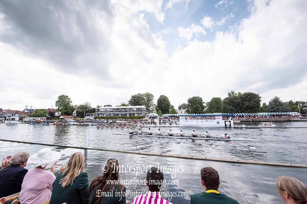 Henley on Thames, England, United Kingdom, 7th July 2019, Henley Royal Regatta, Finals Day, Henley Reach, [© Peter SPURRIER/Intersport Image]<br /> <br /> 15:07:27