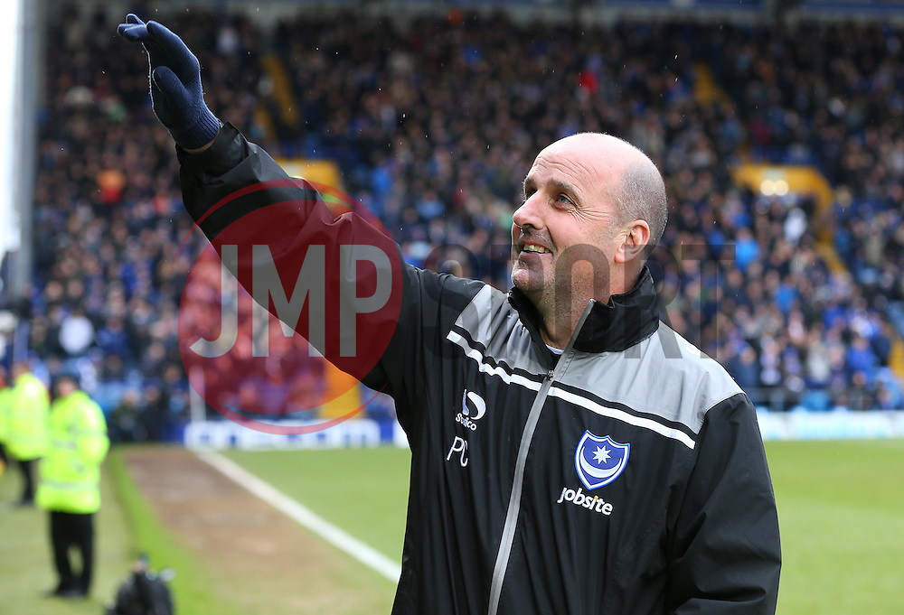 Portsmouth Manager, Paul Cook - Mandatory byline: Paul Terry/JMP - 13/02/2016 - FOOTBALL - Fratton Park - Portsmouth, England - Portsmouth v Bristol Rovers - Sky Bet League Two