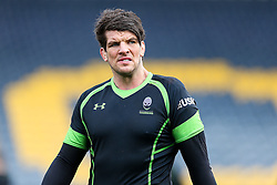 Donncha O'Callaghan looks on as Worcester's First Team train on the pitch before the Academy Finals get underway - Rogan Thomson/JMP - 16/02/2017 - RUGBY UNION - Sixways Stadium - Worcester, England - Worcester Warriors U18 v Saracens U18 - Premiership Rugby Under 18 Academy Finals Day 5th Place Play-Off.