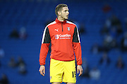Rotherham United defender (on loan to Brighton last season) Greg Halford warming up during the Sky Bet Championship match between Brighton and Hove Albion and Rotherham United at the American Express Community Stadium, Brighton and Hove, England on 15 September 2015.