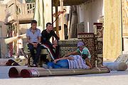 Uzbekistan, Bukhara.<br /> Carpets.