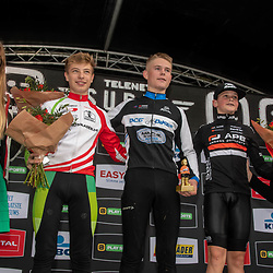 2019-10-13: Cycling: Superprestige: Gieten: Jelte Jochens(NED) wins the race of the first years youth, Louis Leidert (GER) is second and Guus van der Eijnden(NED) 3rf