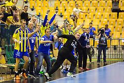 Players of RK Celje Pivovarna Lasko during the handball match between RK Celje Pivovarna Lasko (SLO) and Prvo Plinarsko drustvo Zagreb (CRO) in 1st round, group B of EHF Champions League 2016/17 on September 24, 2016 in Arena Zlatorog, Celje, Slovenia. Photo by Ziga Zupan / Sportida