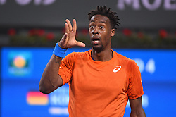 Gael Monfils (FRA) during his fourth round match at the 2018 Indian Wells Masters 1000 at Indian Wells Tennis Garden, California, USA, on March, 13, 2019. Photo by Corinne Dubreuil/ABACAPRESS.COM