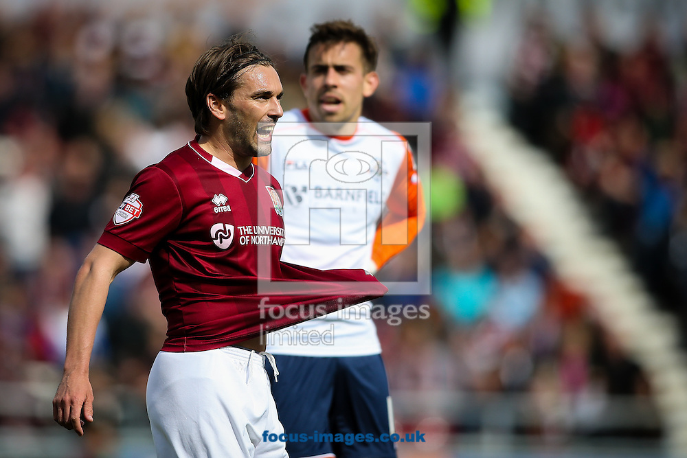 Ricky Holmes of Northampton Town during the Sky Bet League 2 match at Sixfields Stadium, Northampton<br /> Picture by Andy Kearns/Focus Images Ltd 0781 864 4264<br /> 30/04/2016