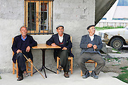 Albania, Himara, a group of local men