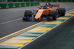 March 24, 2018 - Melbourne, Victoria, Australia - ALONSO Fernando (spa), McLaren Renault MCL33, action during 2018 Formula 1 championship at Melbourne, Australian Grand Prix, from March 22 To 25 - s: FIA Formula One World Championship 2018, Melbourne, Victoria : Motorsports: Formula 1 2018 Rolex  Australian Grand Prix, (Credit Image: © Hoch Zwei via ZUMA Wire)