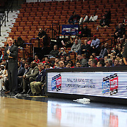 Chris Mullin, (left), Head Coach of St. John's and Frank Martin, South Carolina Head Coach banter on the sideline during the St. John's vs South Carolina Men's College Basketball game in the Hall of Fame Shootout Tournament at Mohegan Sun Arena, Uncasville, Connecticut, USA. 22nd December 2015. Photo Tim Clayton