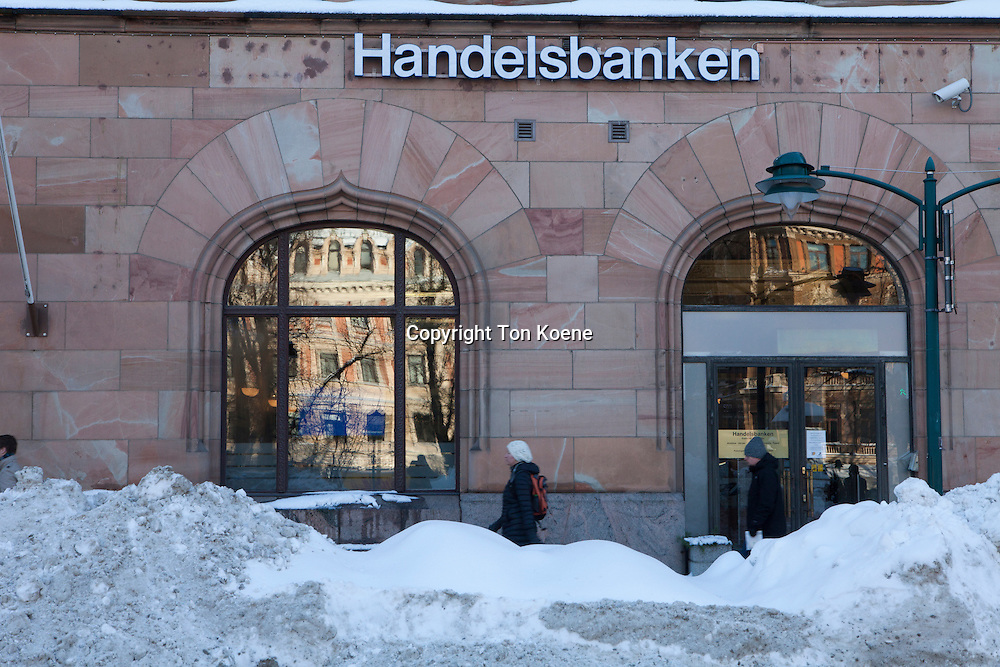 Bank in downtown Helsinki