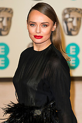 © Licensed to London News Pictures. 14/02/2016. London, UK. LAURA HADDOCK arrives on the red carpet for the EE British Academy Film Awards 2016 after party held at Grosvenor House . London, UK. Photo credit: Ray Tang/LNPPhoto credit: Ray Tang/LNP