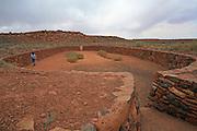 Game court, Wupatki Pueblo, Wupatki and Sunset Crater National Monuments, Arizona, USA<br />