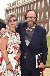 David Myers and his wife Lil at the Concours d'éléphant in aid of Elephant Family held at the Royal Hospital Chelsea, London, England. 28 June 2018.
