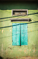 VAN HA, VIETNAM - CIRCA SEPTEMBER 2014: Typical window at he Lang Gom Tho Ha village. The village belongs to the Van Ha commune, it is located 50km away from Hanoi in Northern Vietman