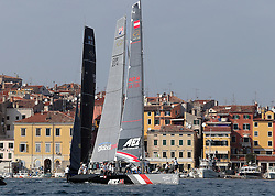 07.10.2012, Rovinj, CRO, Adris RC44 World Championship, Tag 5, im Bild Uebersicht // Feature during day 5 of RC44 World Championship 2012 in Rovinj, Croatia on 2012/10/07. EXPA Pictures © 2012, PhotoCredit: EXPA/ Pixsell/ Jurica Galoic..***** ATTENTION - OUT OF CRO, SRB, MAZ, BIH and POL *****
