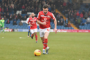 Walsall Midfielder, Anthony Forde on the ball during the Sky Bet League 1 match between Bury and Walsall at Gigg Lane, Bury, England on 16 January 2016. Photo by Mark Pollitt.