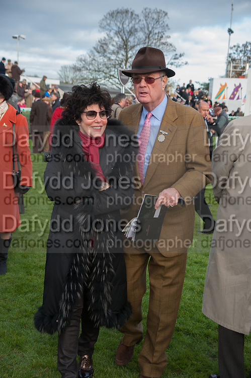 RUBY WAX; BRYAN STEWART-BROWN, Hennessy Gold Cup, The Racecourse Newbury. 30 November 2013.