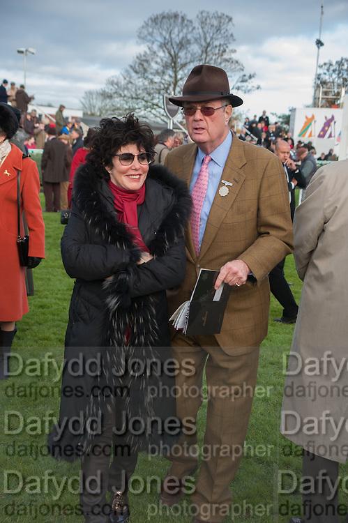 RUBY WAX; BRYAN STEWART-BROWN, Hennessy Gold Cup, The Racecourse Newbury. 30 November 2013.