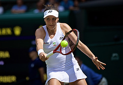 LONDON, ENGLAND - Tuesday, July 2, 2019: Tatjana Maria (GER) during the Ladies' Singles first round match on Day Two of The Championships Wimbledon 2019 at the All England Lawn Tennis and Croquet Club. (Pic by Kirsten Holst/Propaganda)