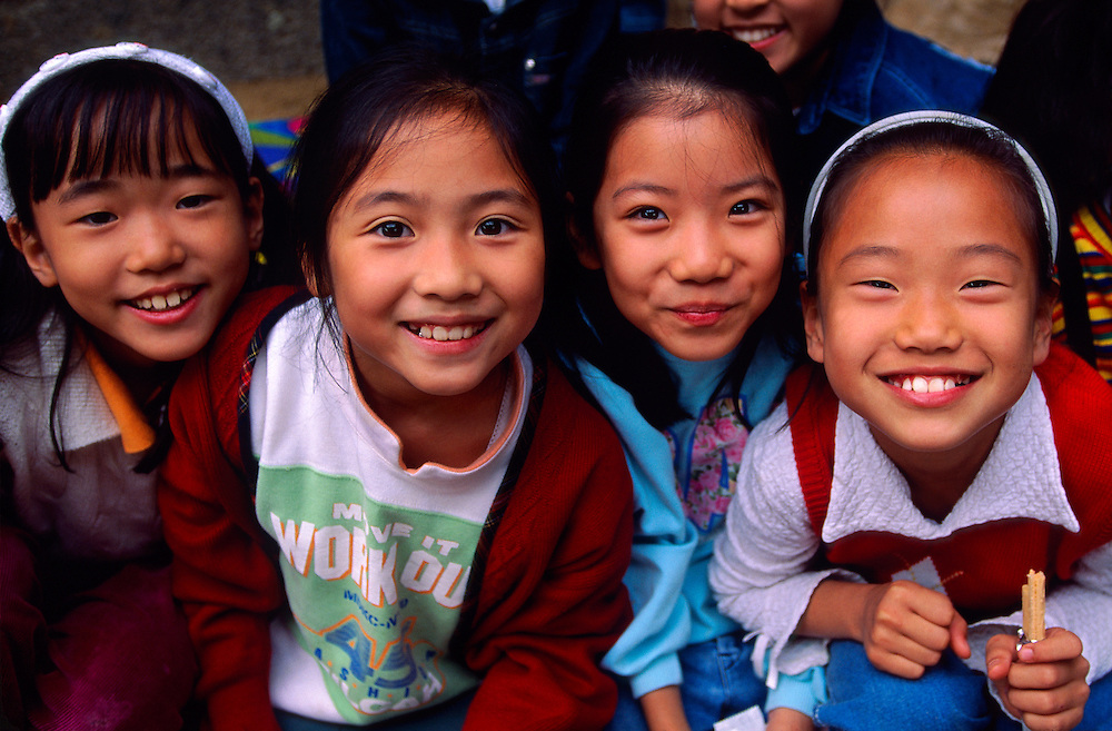 Korean girls, Korean Folk Village, near Suwon, South Korea